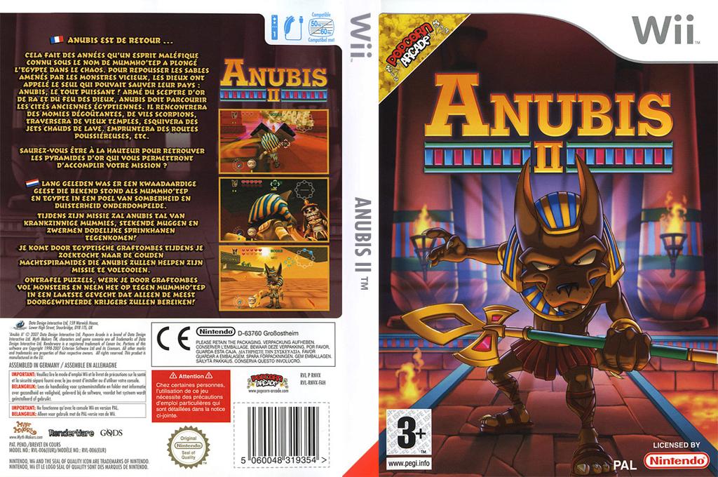 Anubis II Wii coverfullHQ (RNVPUG)