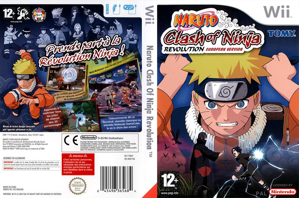 Naruto:Clash of Ninja Revolution European Version Wii coverfullHQ (RNXPDA)