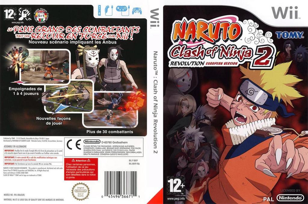 Naruto:Clash of Ninja Revolution 2 European Version Wii coverfullHQ (RNYPDA)