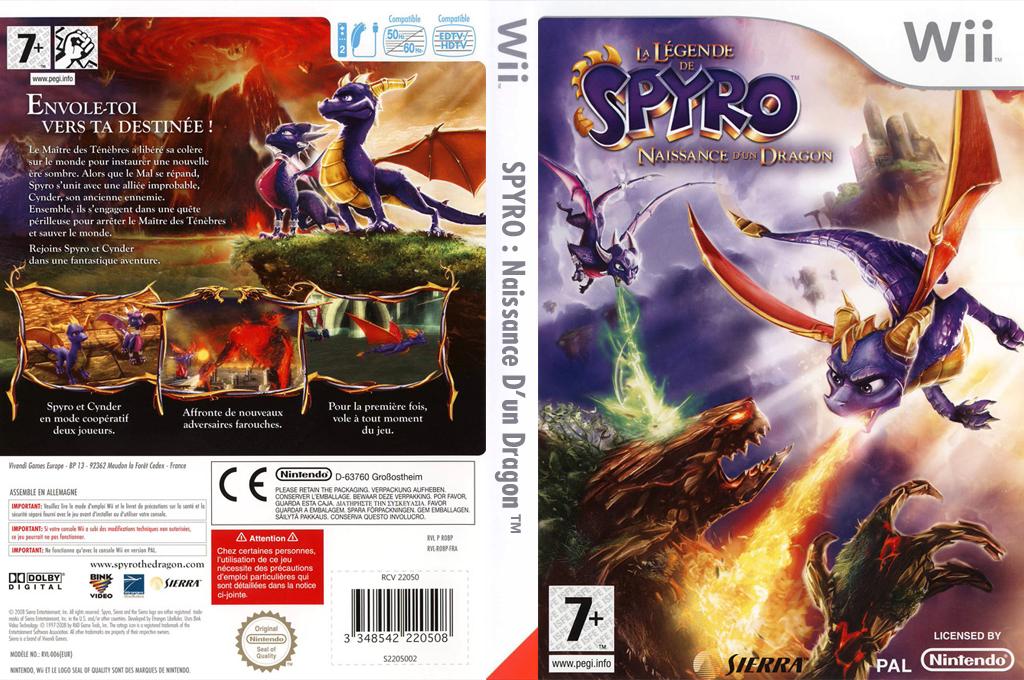 La Légende de Spyro:La Naissance d'un Dragon Wii coverfullHQ (RO8X7D)