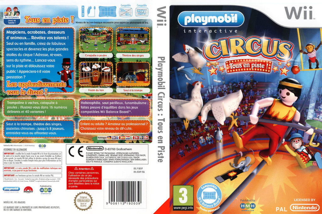 Playmobil Circus: Tous en Piste Wii coverfullHQ (ROVPHM)