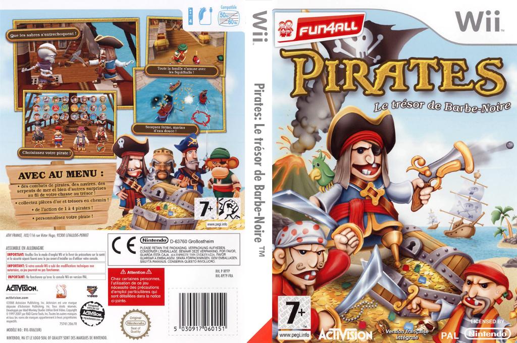 Pirates:Le trésor de Barbe-Noire Wii coverfullHQ (RP7P52)