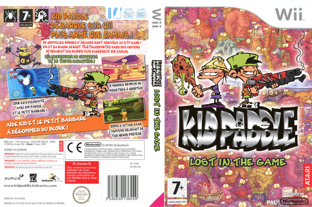 Kid Paddle : Lost in the Game Wii coverfullHQ (RPAF70)