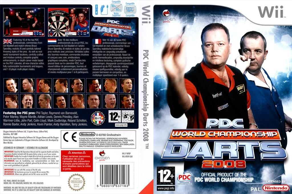 PDC World Championship Darts 2008 Wii coverfullHQ (RPDPGN)
