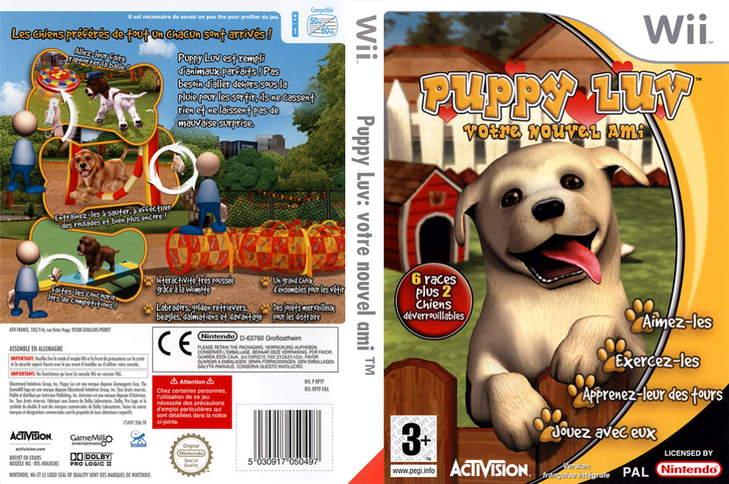 Puppy Luv : Votre Nouvel Ami Wii coverfullHQ (RPTP52)
