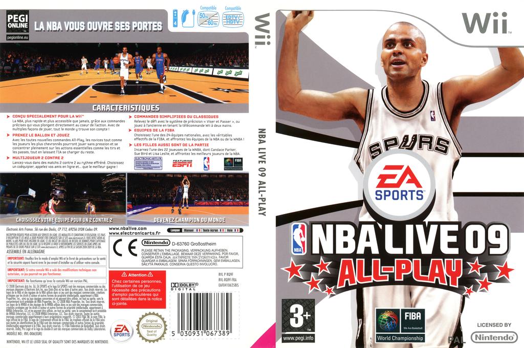NBA Live 09 All-Play Wii coverfullHQ (RQ9F69)