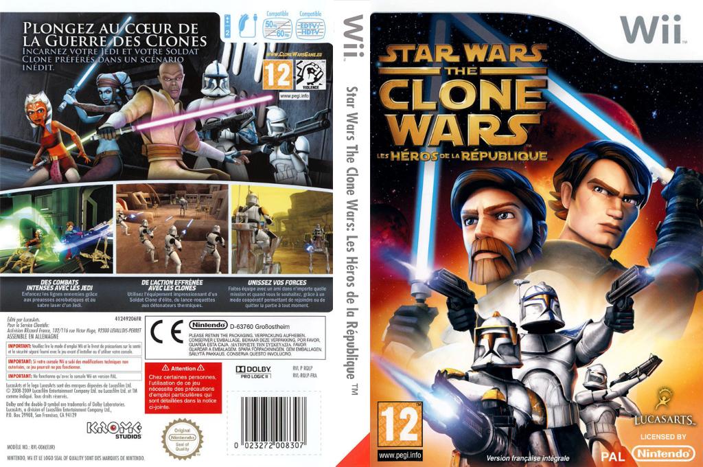 Star Wars The Clone Wars:Les Héros de la République Wii coverfullHQ (RQLP64)