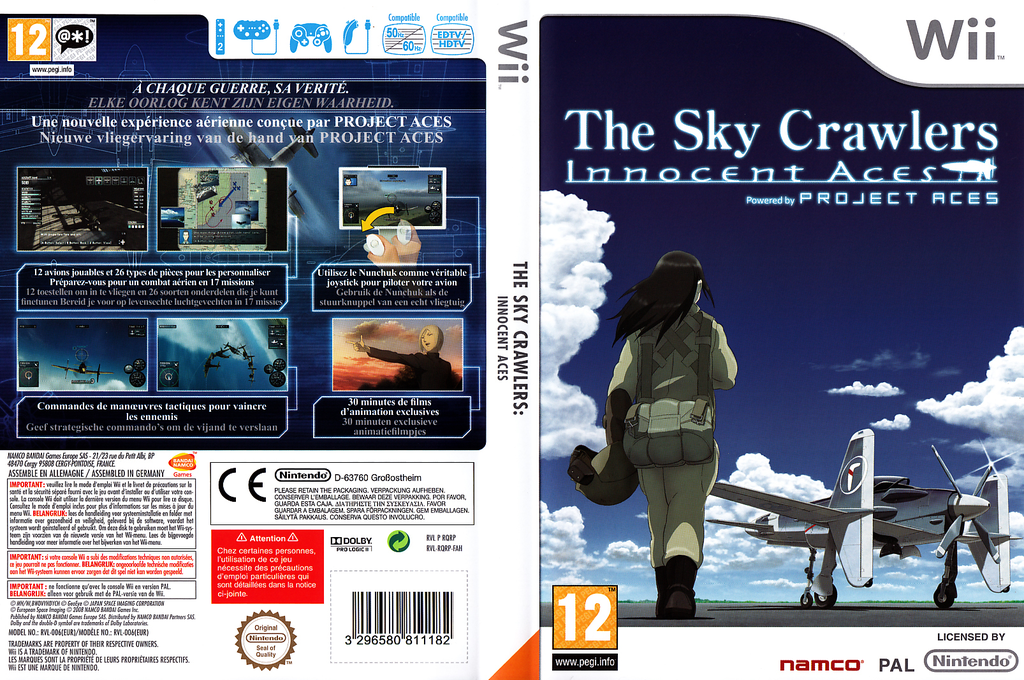 The Sky Crawlers:Innocent Aces Wii coverfullHQ (RQRPAF)