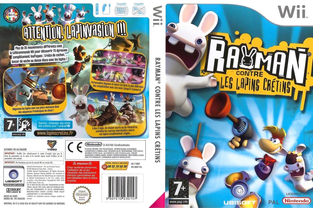 Rayman Contre les Lapins Crétins Wii coverfullHQ (RRBP41)