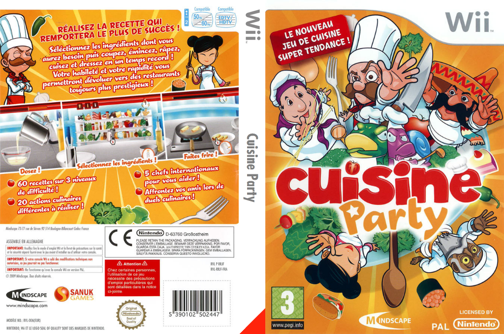 Cuisine Party Wii coverfullHQ (RRJPMR)