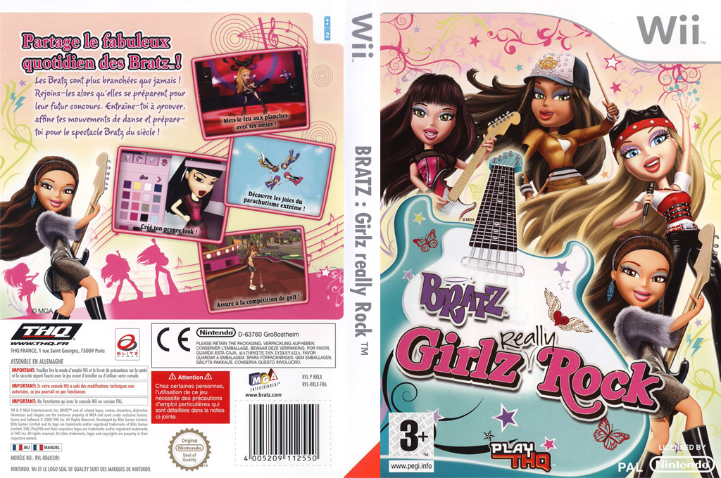Bratz : Girlz Really Rock Wii coverfullHQ (RRLY78)