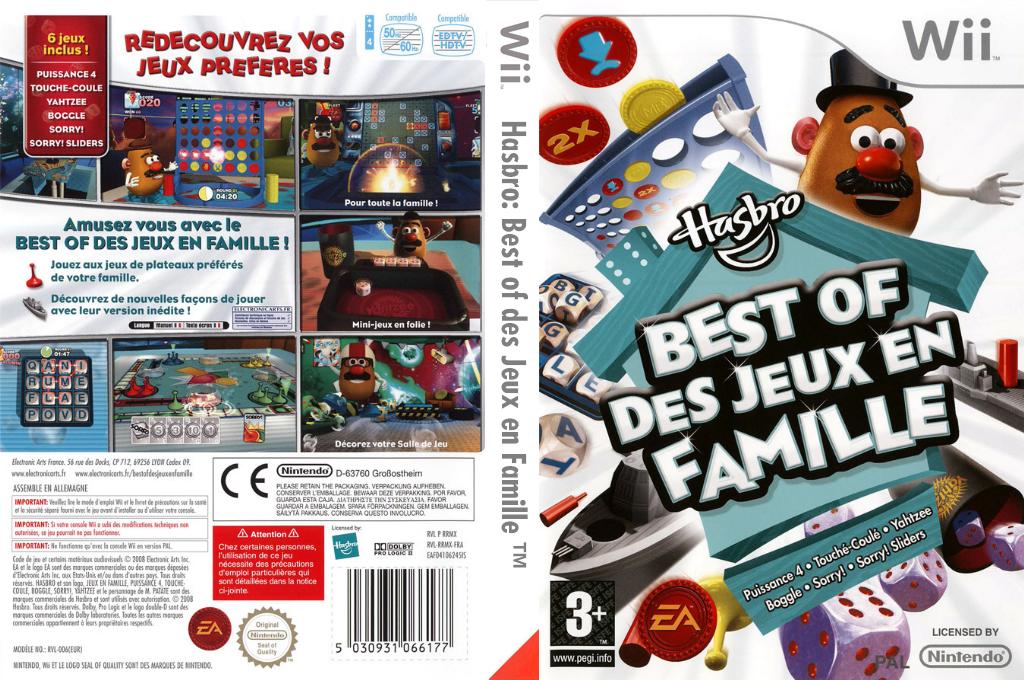 Hasbro:Best of des Jeux en Famille Wii coverfullHQ (RRMX69)