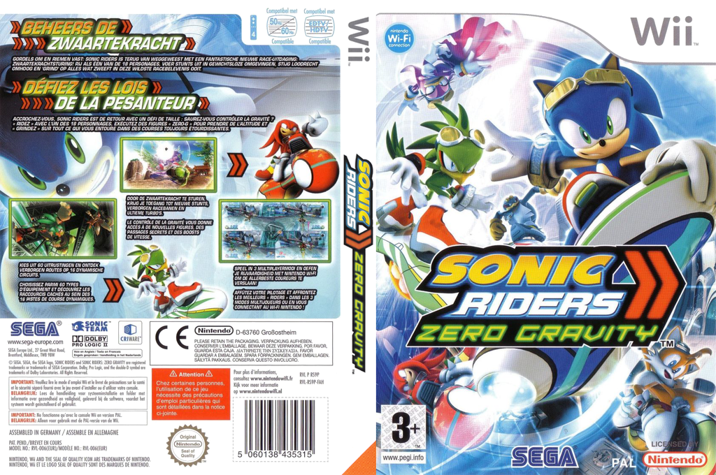 Sonic Riders : Zero Gravity Wii coverfullHQ (RS9P8P)