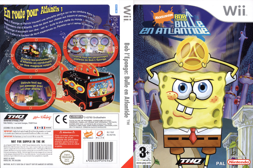 Bob l'Eponge:Bulle en Atlantide Wii coverfullHQ (RSAP78)