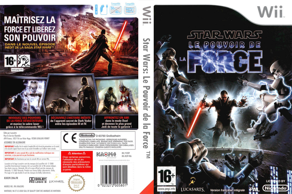 Star Wars : Le Pouvoir de la Force Wii coverfullHQ (RSTP64)