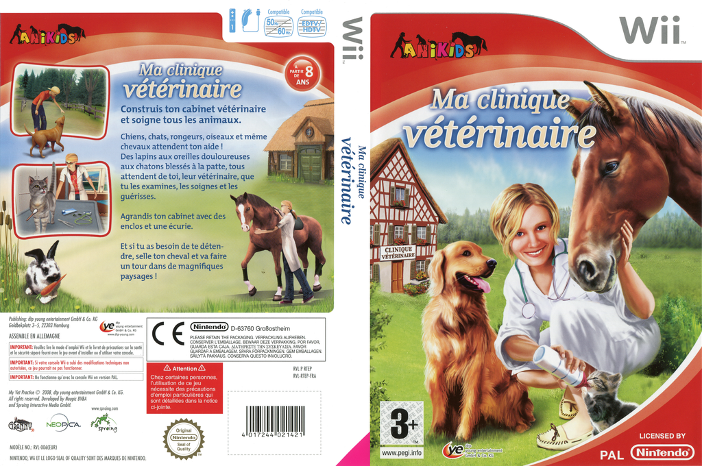 Ma clinique veterinaire Wii coverfullHQ (RTEPFR)