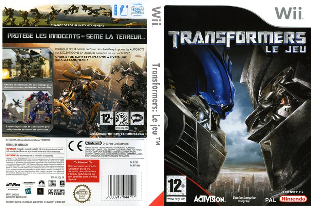 Transformers: Le jeu Wii coverfullHQ (RTFY52)