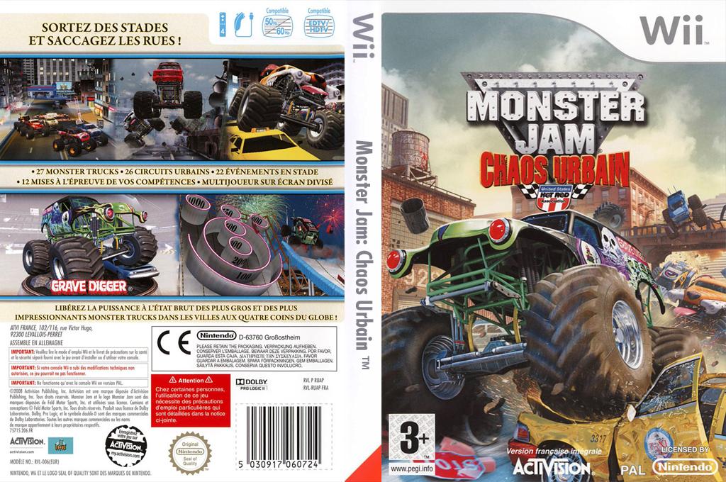 Monster Jam : Chaos Urbain Wii coverfullHQ (RUAP52)