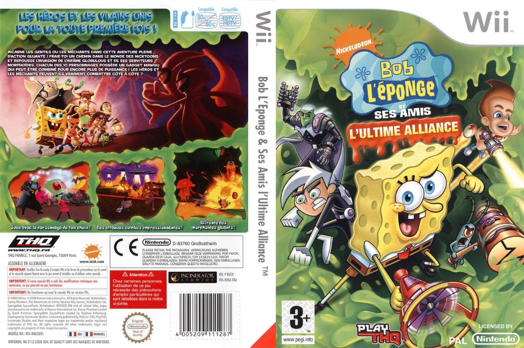 Bob L'Eponge & Ses Amis: L'Ultime Alliance Wii coverfullHQ (RUSX78)