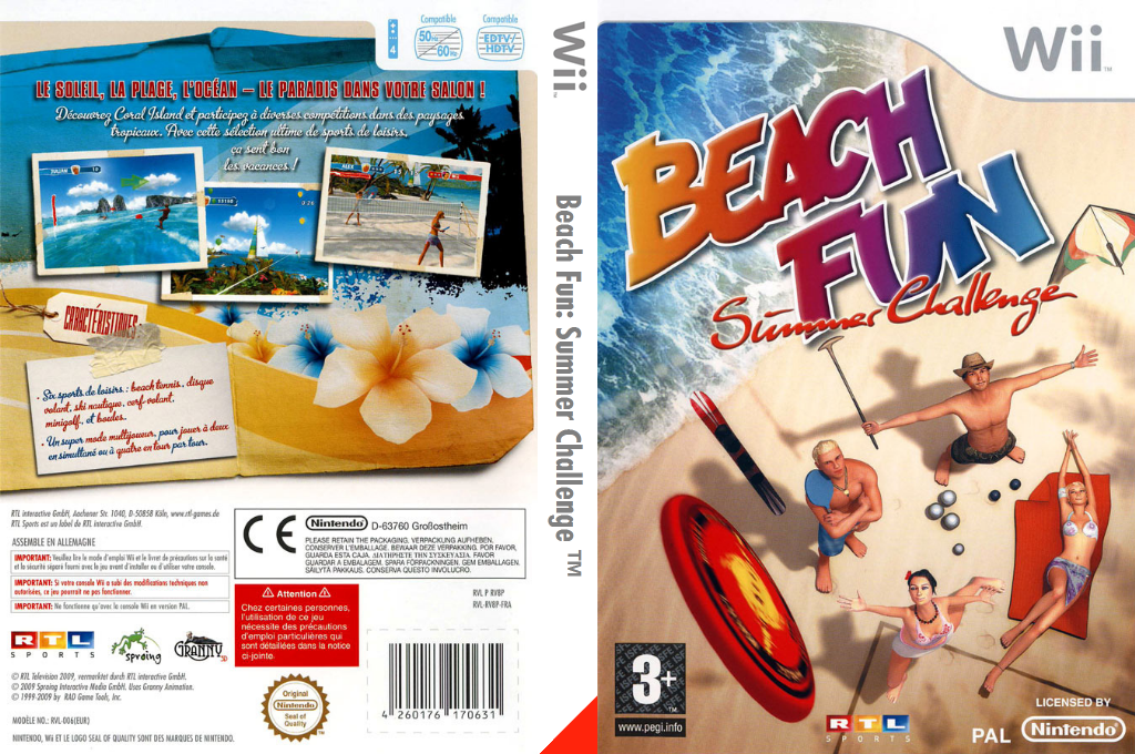 Beach Fun:Summer Challenge Wii coverfullHQ (RV8PRT)
