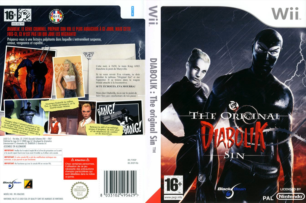 Diabolik : The Original Sin Wii coverfullHQ (RVDPLG)