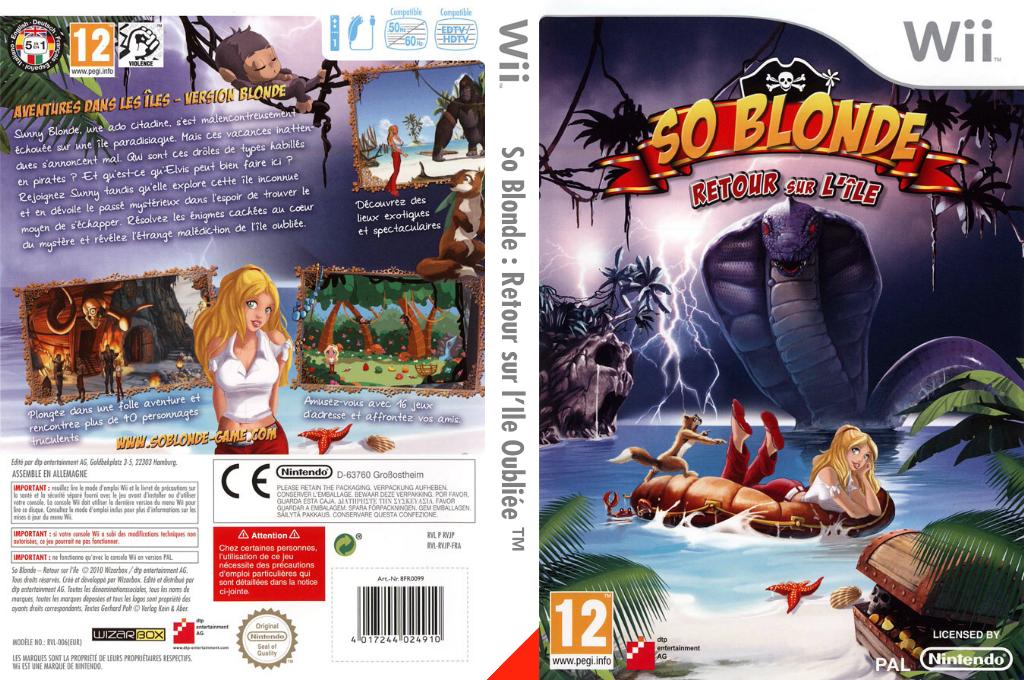 So Blonde :Retour sur l'Ile Oubliée Wii coverfullHQ (RVJPFR)