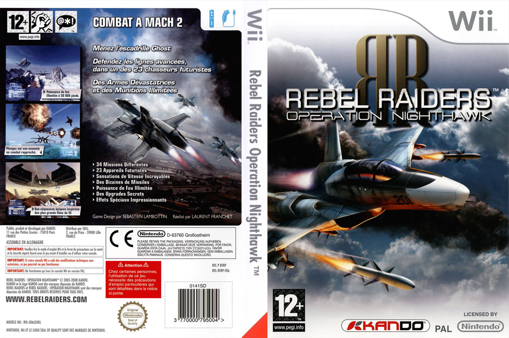 Rebel Raiders : Operation Nighthawk Wii coverfullHQ (RVRPKG)