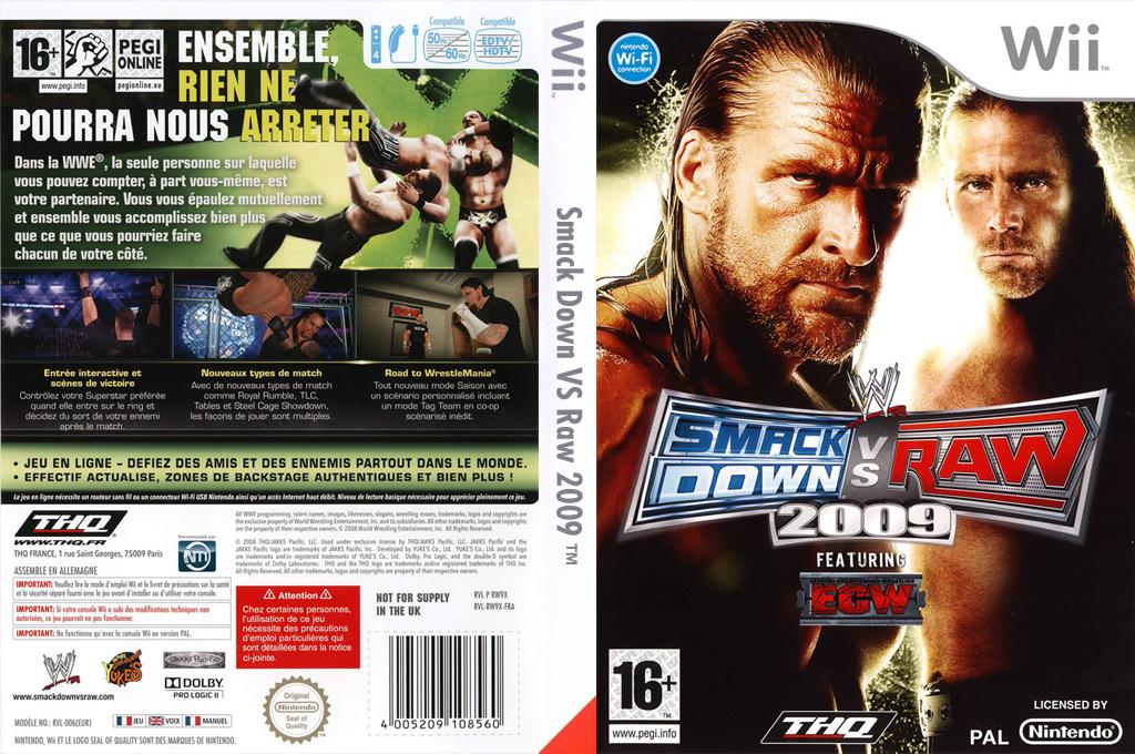 WWE SmackDown vs. Raw 2009 Wii coverfullHQ (RW9P78)