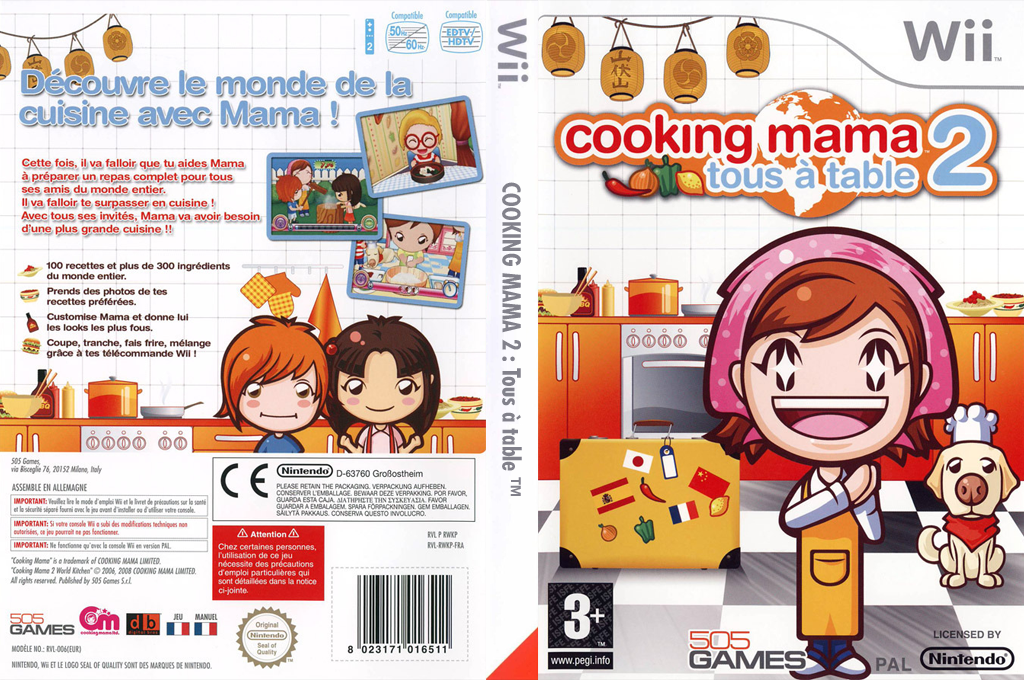 Cooking Mama 2 : Tous à Table Wii coverfullHQ (RWKPGT)