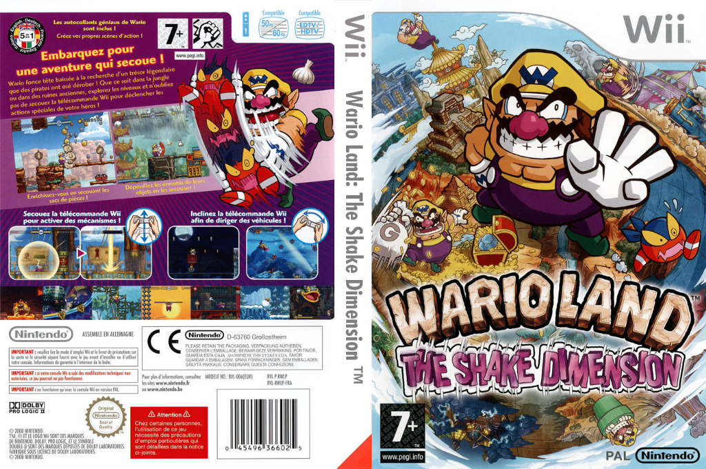 Wario Land : The Shake Dimension Wii coverfullHQ (RWLP01)