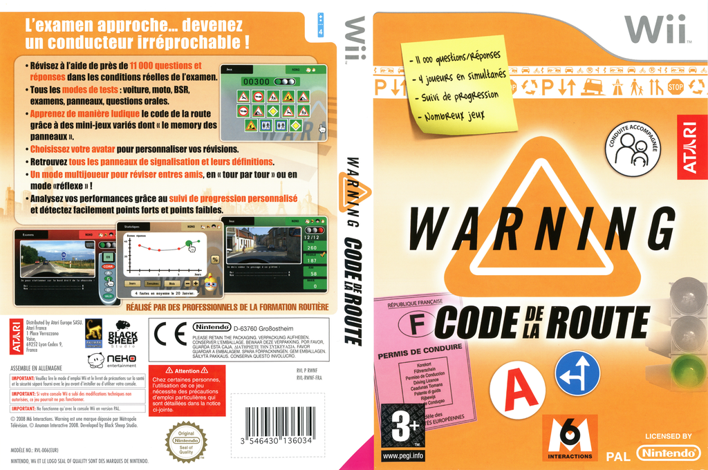 Warning : Code De La Route Wii coverfullHQ (RWNF70)