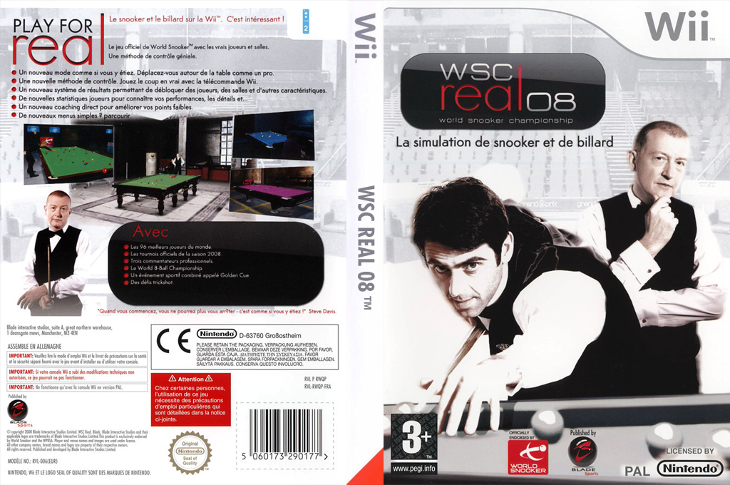 WSC Real 08: World Snooker Championship Wii coverfullHQ (RWQPSP)