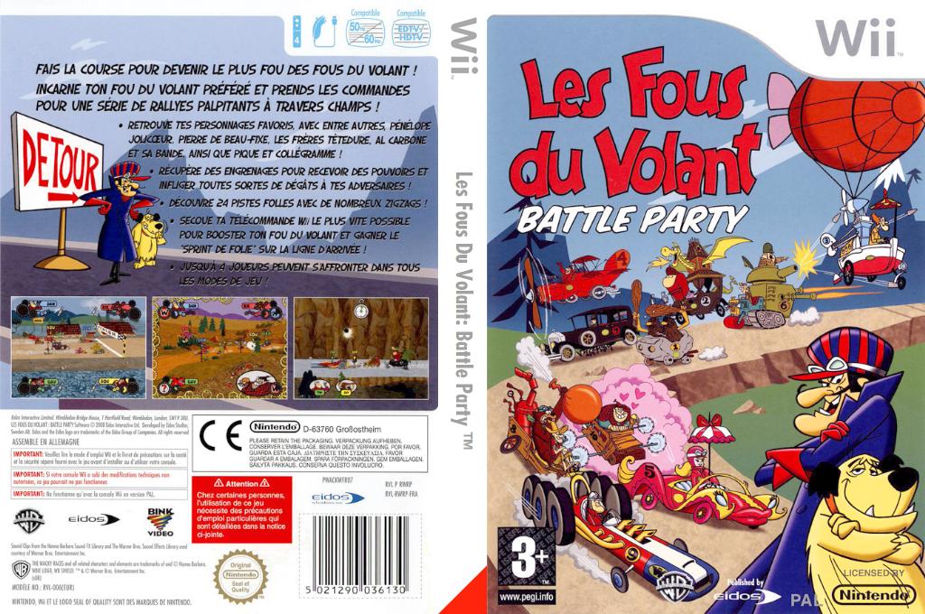 Les Fous Du Volant:Battle Party Wii coverfullHQ (RWRP4F)