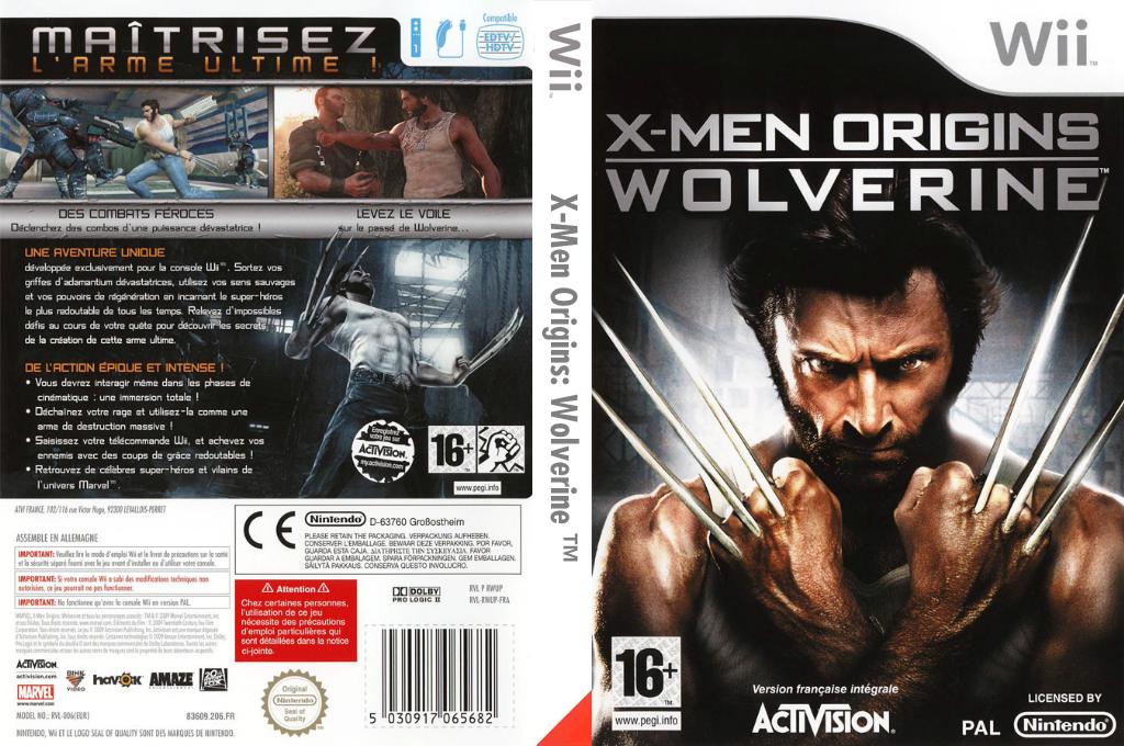 X-Men Origins:Wolverine Wii coverfullHQ (RWUP52)
