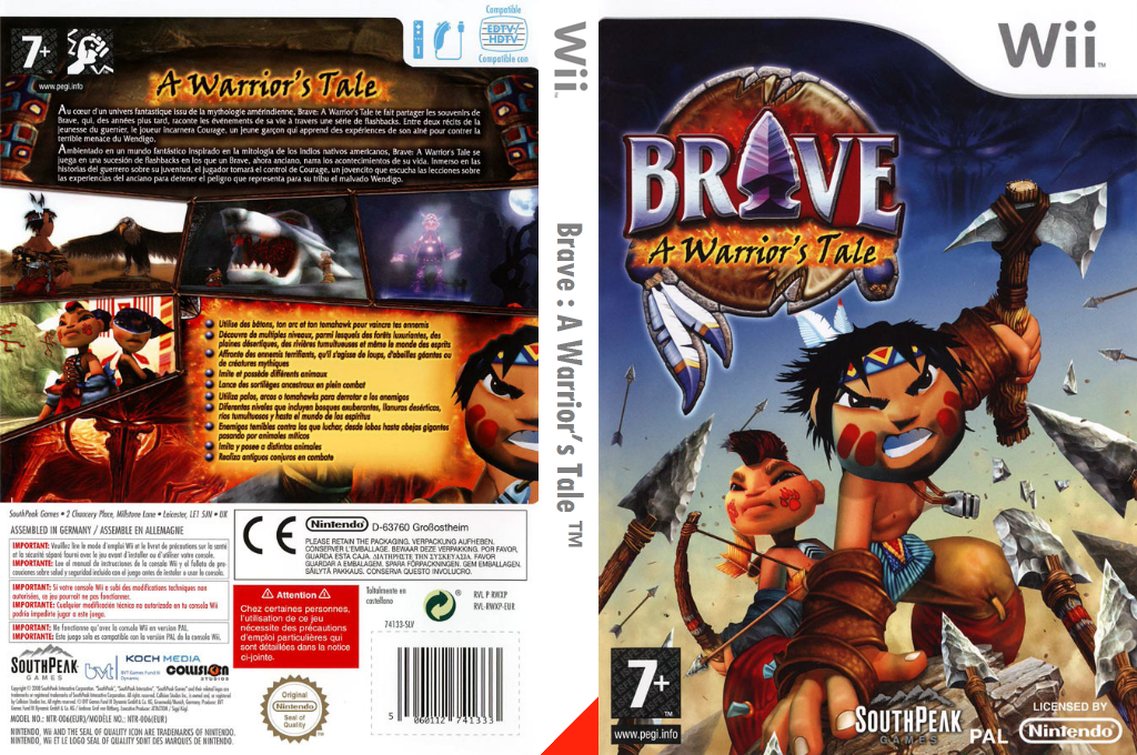 Brave : A Warrior's Tale Wii coverfullHQ (RWXPS5)