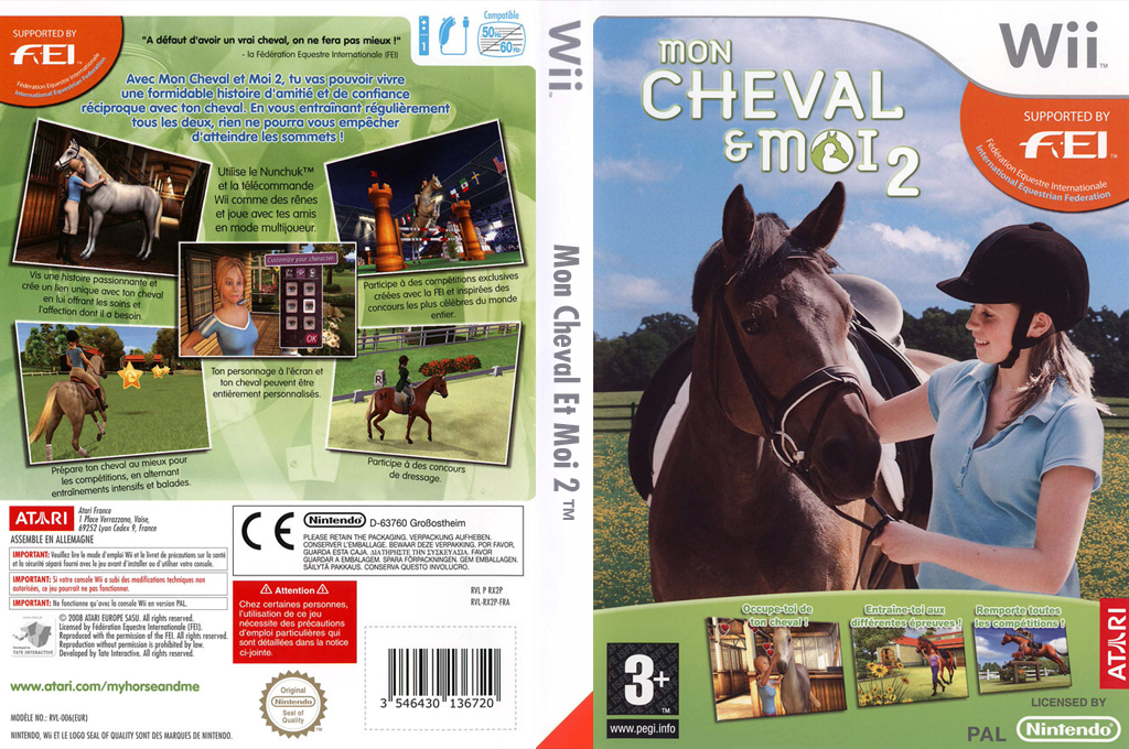 Mon Cheval et Moi 2 Wii coverfullHQ (RX2P70)