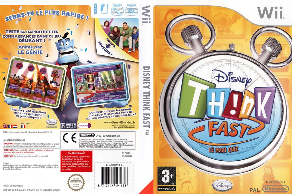 Disney Th!nk Fast - Le Maxi Quiz Wii coverfullHQ (RXDD4Q)