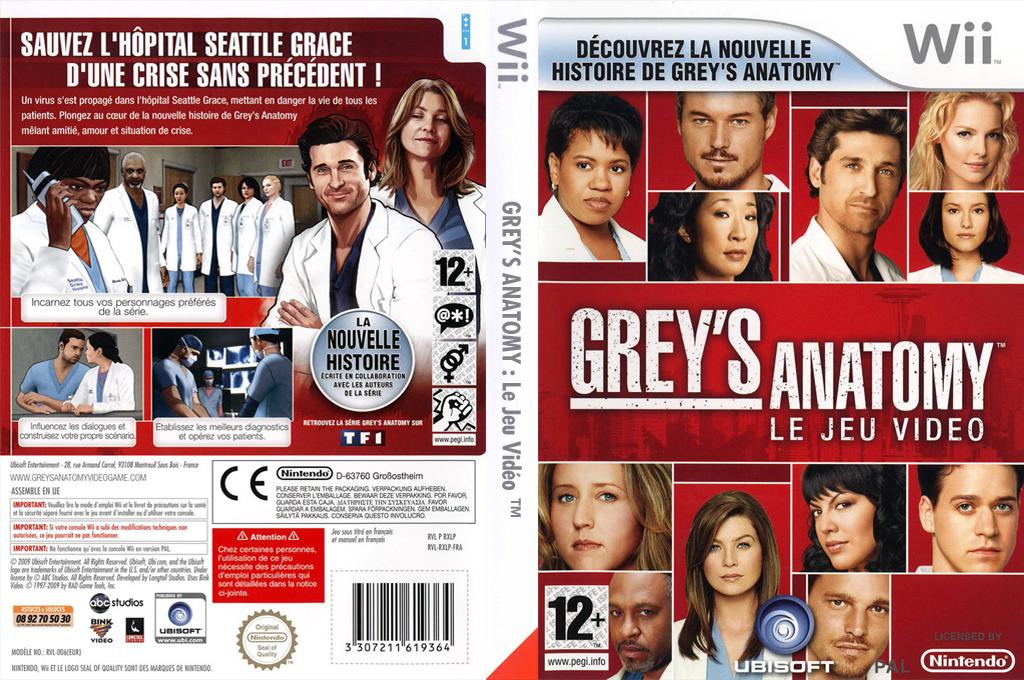 Grey's Anatomy : Le Jeu Vidéo Wii coverfullHQ (RXLP41)