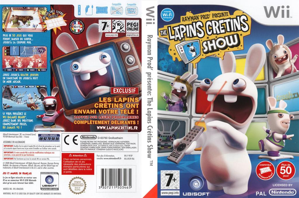 Rayman Prod' présente :The Lapins Crétins Show Wii coverfullHQ (RY3P41)