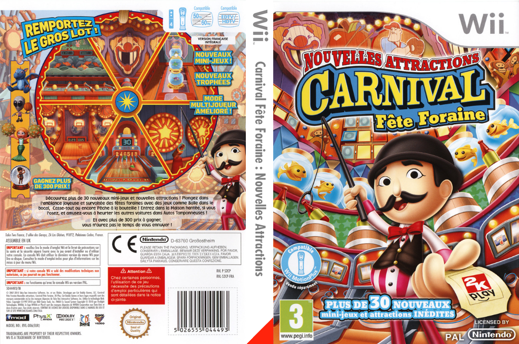 Carnival Fête Foraine: Nouvelles Attractions Wii coverfullHQ (S2CP54)