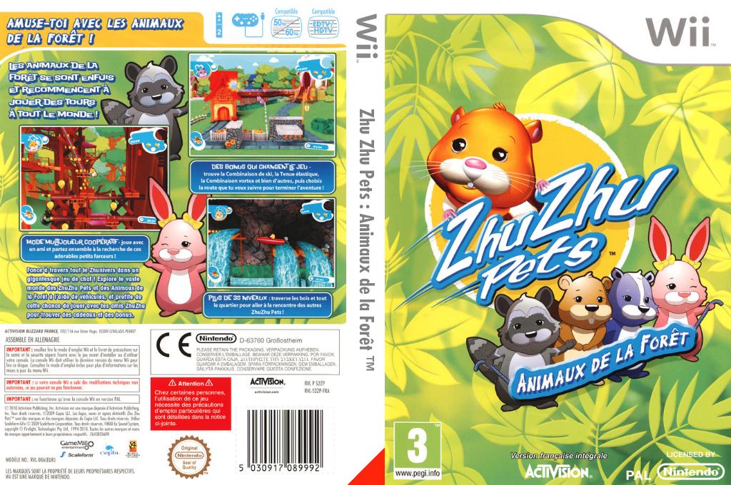 Zhu Zhu Pets: Animaux de la Forêt Wii coverfullHQ (S2ZP52)