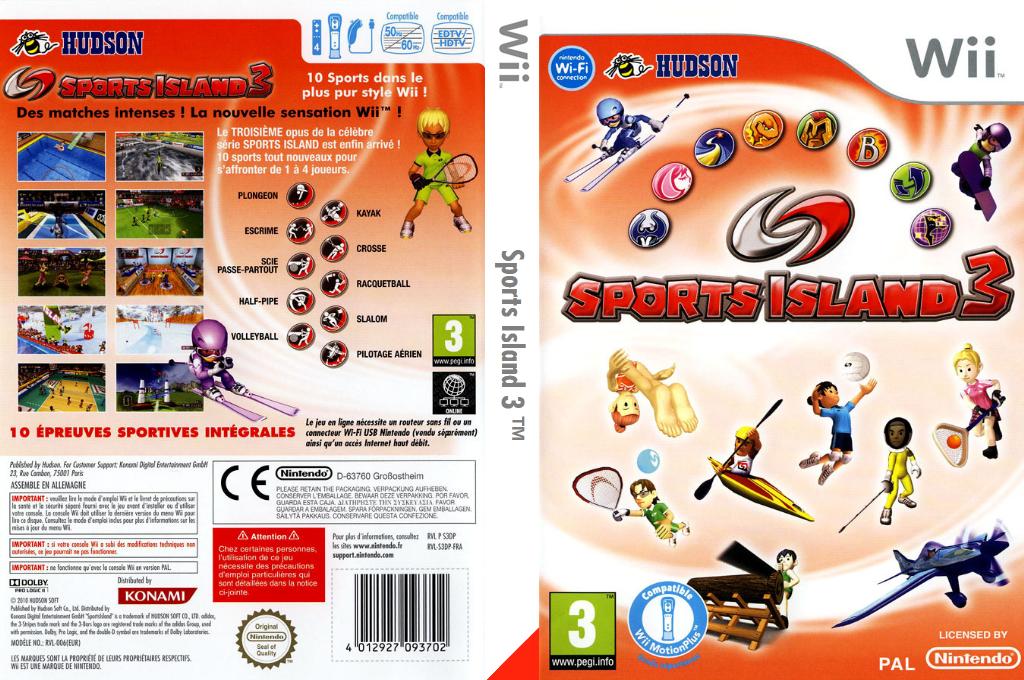 Sports Island 3 Wii coverfullHQ (S3DP18)