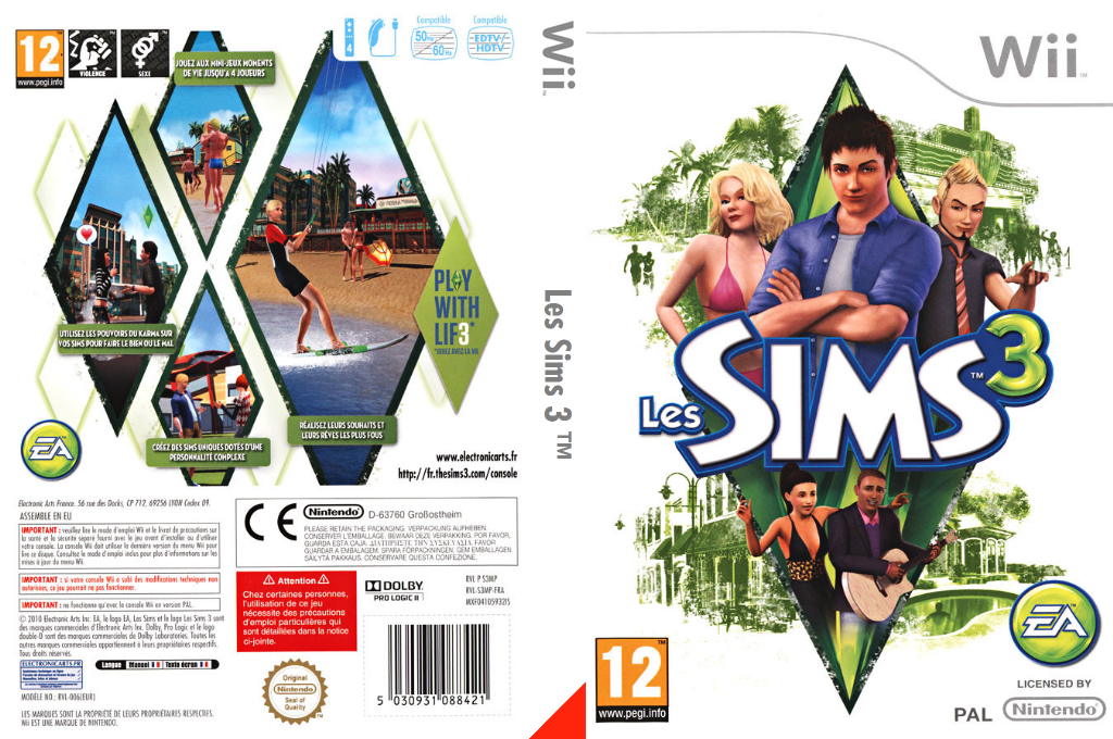 Les Sims 3 Wii coverfullHQ (S3MP69)