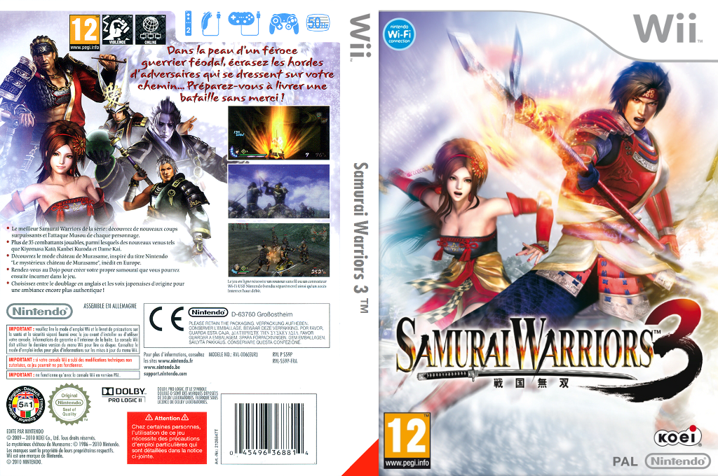 Samurai Warriors 3 Wii coverfullHQ (S59P01)
