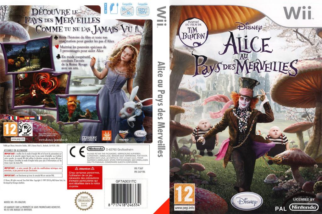 Alice au Pays des Merveilles Wii coverfullHQ (SALP4Q)