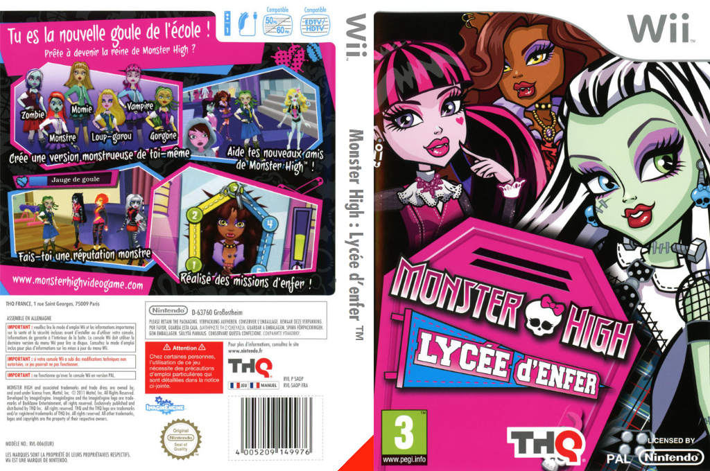 Monster High: Lycée d'Enfer Wii coverfullHQ (SAOP78)