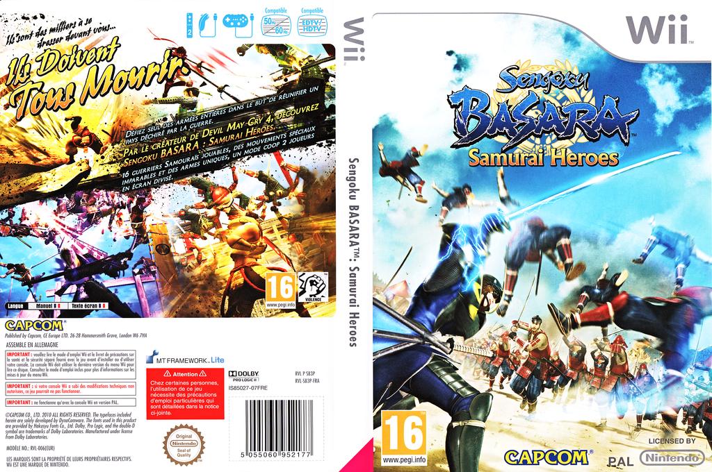 Sengoku Basara:Samurai Heroes Wii coverfullHQ (SB3P08)
