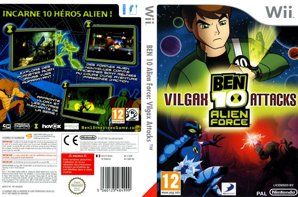 Ben 10:Alien Force Vilgax Attacks Wii coverfullHQ (SBNPG9)