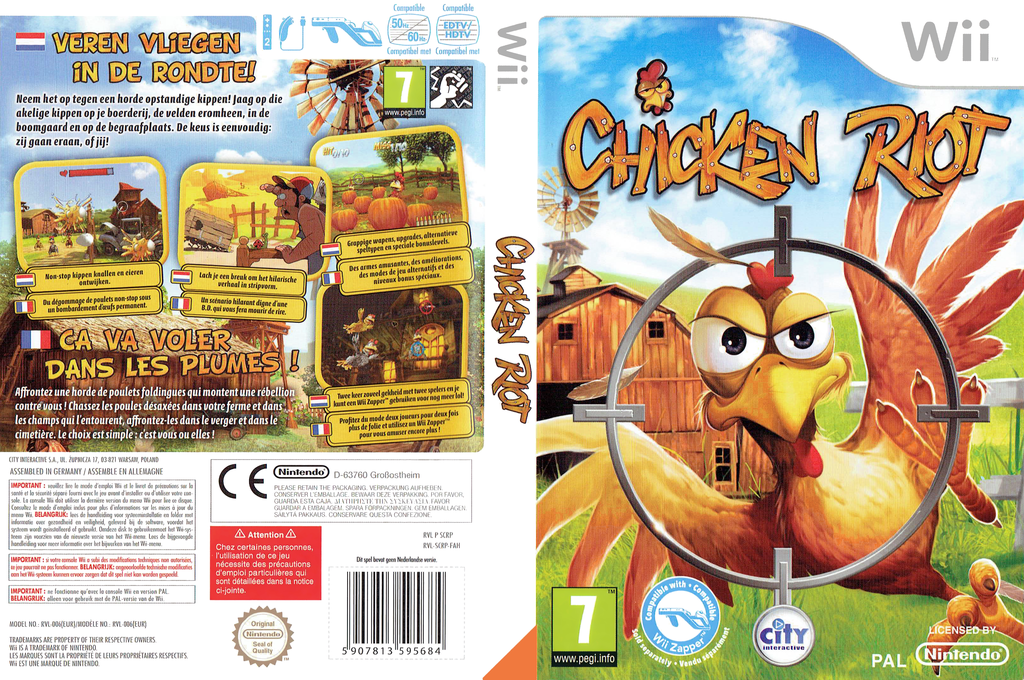 Chicken Riot Wii coverfullHQ (SCRPJH)