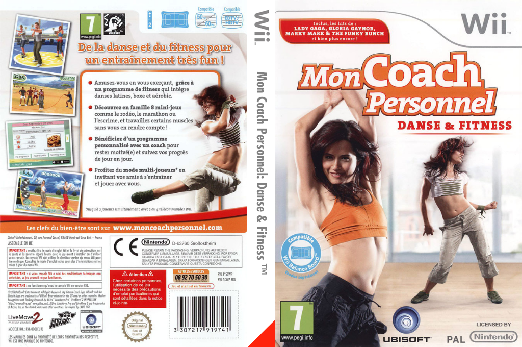 Mon Coach Personnel:Danse & Fitness Wii coverfullHQ (SCWP41)